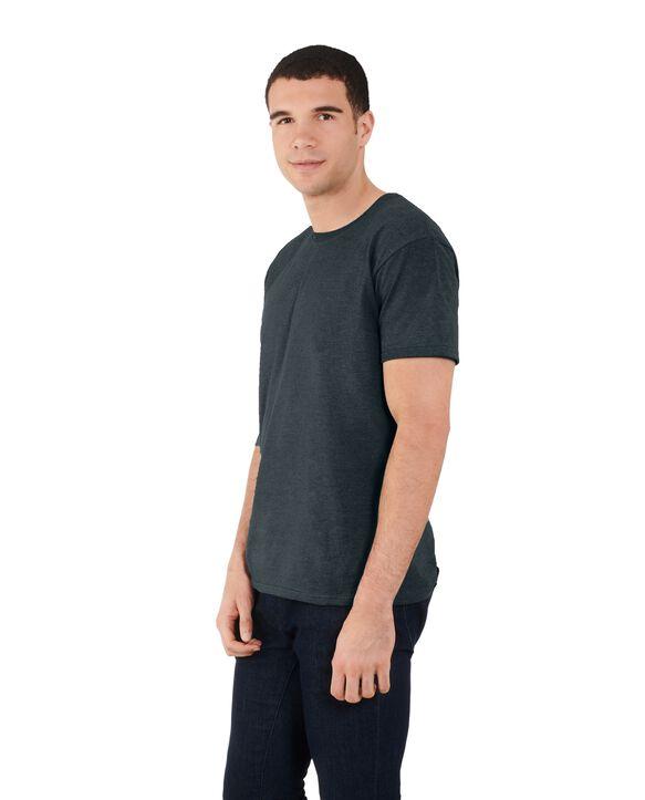 Men's Dual Defense UPF Short Sleeve Crew T-Shirt, 1 Pack Black Heather