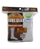Men's Work Gear Tube Socks, 10 Pack, Size 6-12 SWEATSHIRT GREY/BLACK