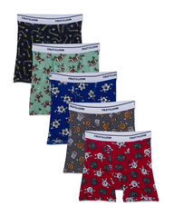 Toddler Boys' Print Solid Boxer Briefs, 5 Pack ASSORTED