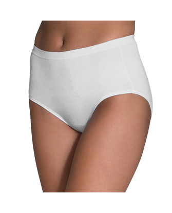 Women's White Cotton Brief, 3 Pack