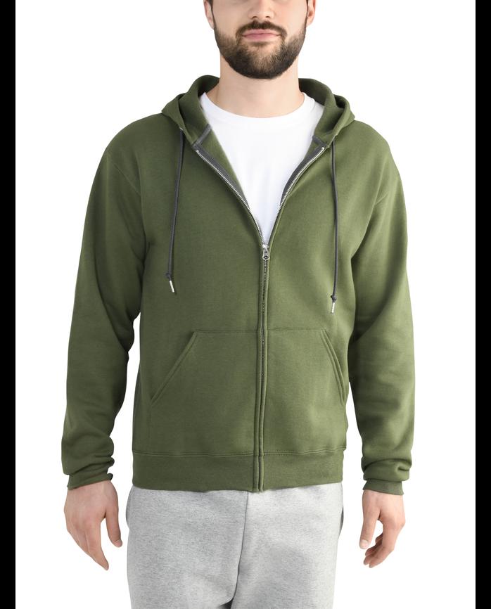 Men's EverSoft Fleece Full Zip Hoodie Jacket Boxwood Green