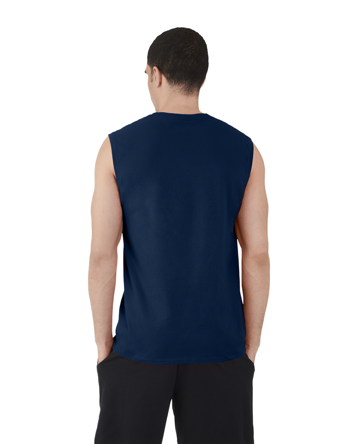 Men's Dual Defense® UPF Muscle Shirt, 1 Pack Navy