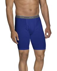 Men's Dual Defense Assorted Long Leg Boxer Briefs, 5 Pack Assorted