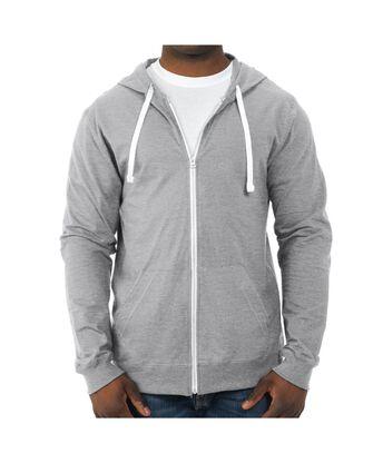 Big Men's Soft Jersey Full Zip Hooded Jacket, 1 Pack