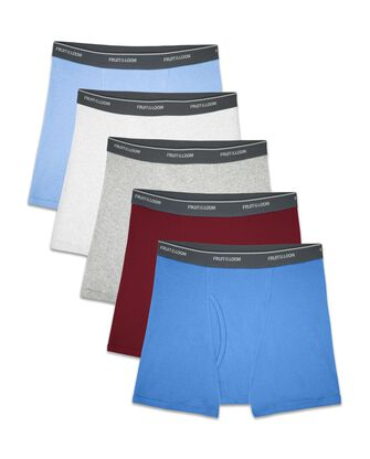 Boys' Assorted Cotton Boxer Briefs, 5 Pack
