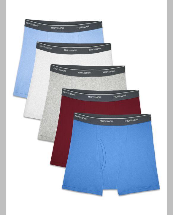 Boys' Assorted Cotton Boxer Briefs, 5 Pack