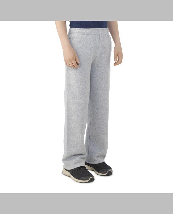 Boys' Fleece Open Bottom Sweatpants, 1 Pack Athletic Heather