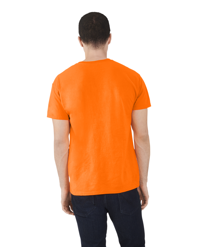 Men's Dual Defense® Crew Neck T-Shirt, 1 Pack Safety Orange