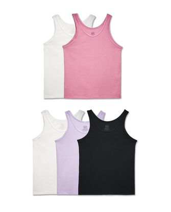 Girls' Assorted Tank, 5 Pack