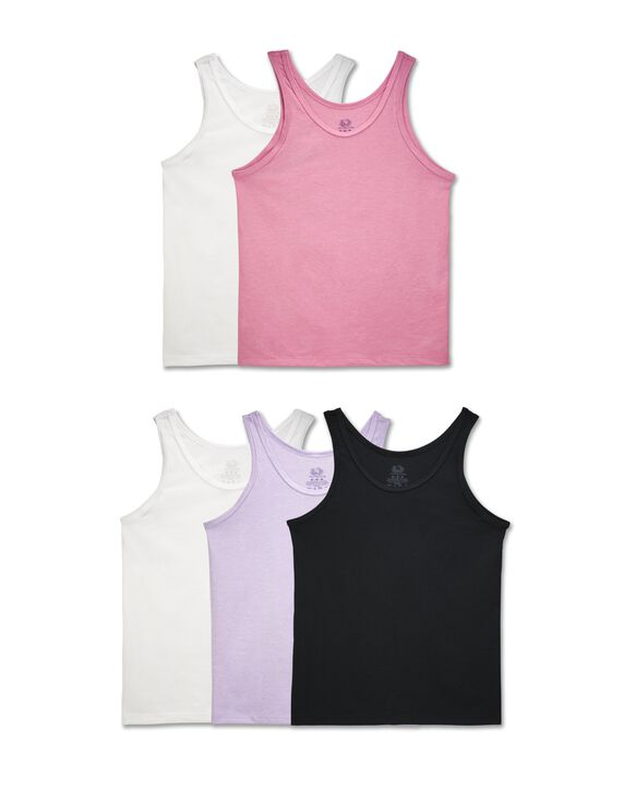 Girls' Assorted Tank, 5 Pack ASSORTED