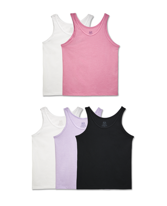Girls' Assorted Tank, 5 Pack