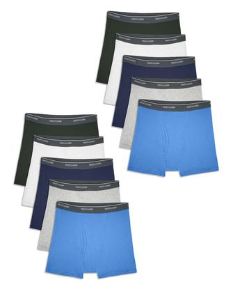 Boys' Assorted Boxer Briefs, Mega Value 10 Pack