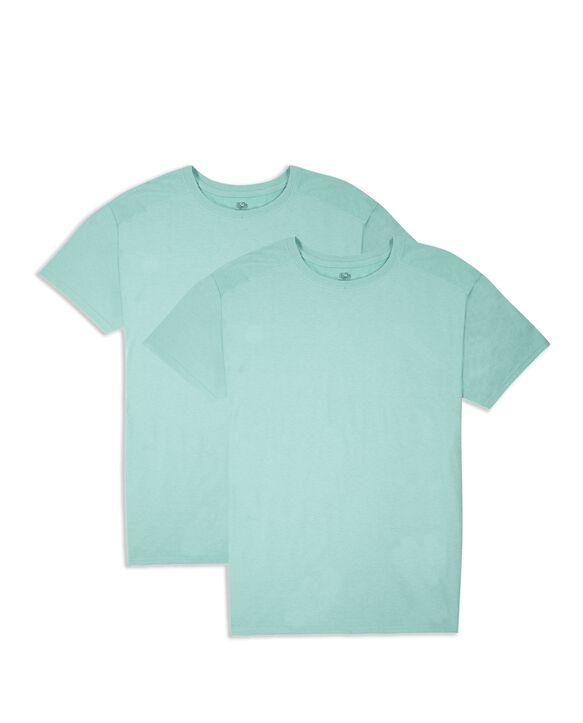 Men's Short Sleeve Crew CoolZone T-Shirt, 2 Pack Beach Glass Heather