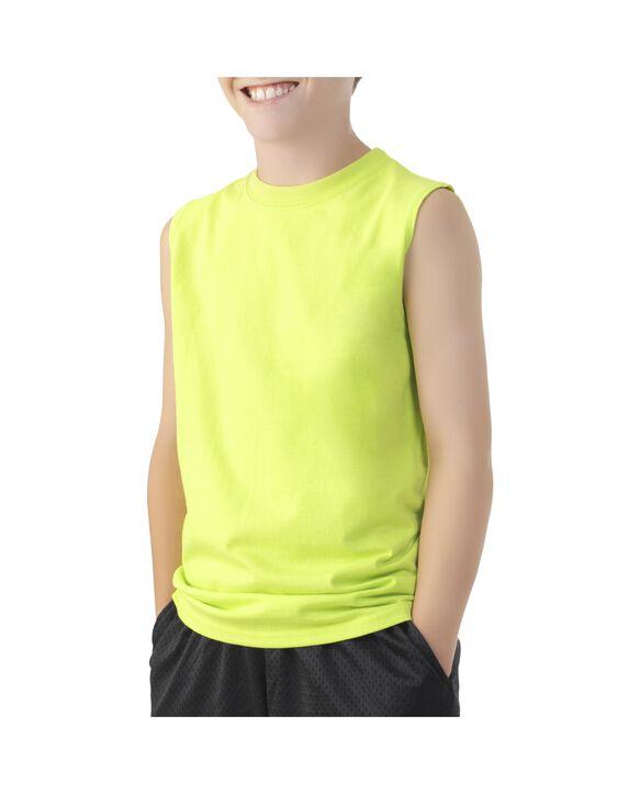 Boys' Sleeveless T-Shirt Lime Punch