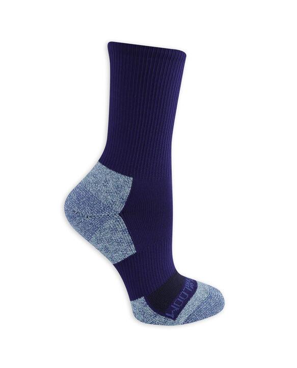 Women's On Her Feet Zoned Cushion Boot Crew Socks, 3 Pack BLUE, BLACK, WHITE