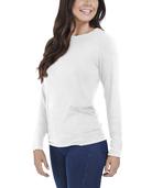 Women's Seek No Further Long Sleeve Ribbed T-Shirt White