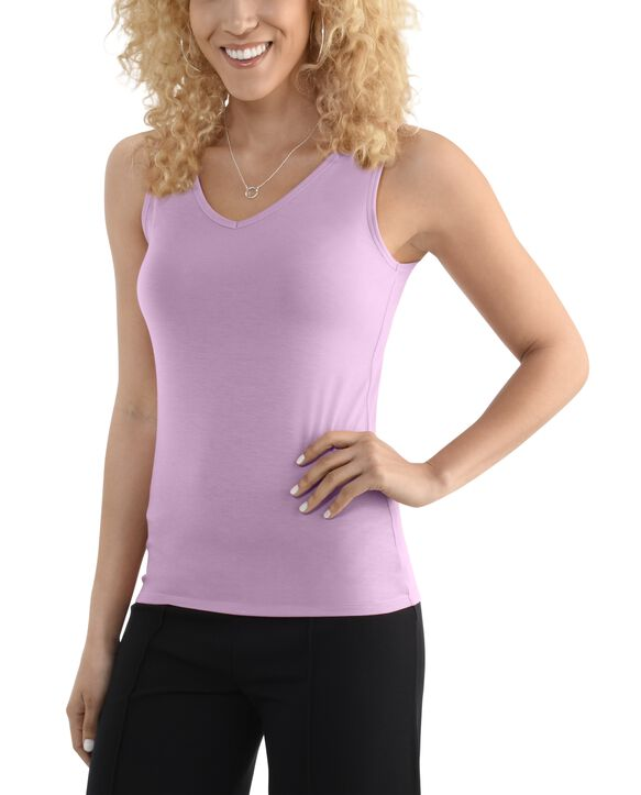 Women's Seek No Further V-Neck Tank Top Lilac