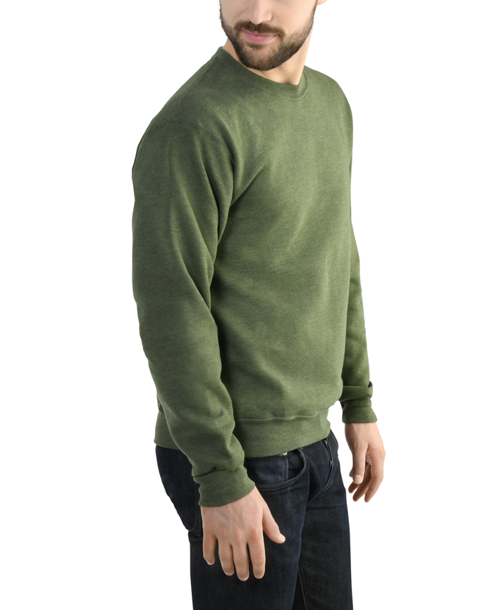 Men's Dual Defense EverSoft Crew Sweatshirt, 1 Pack Four Leaf Clover Heather