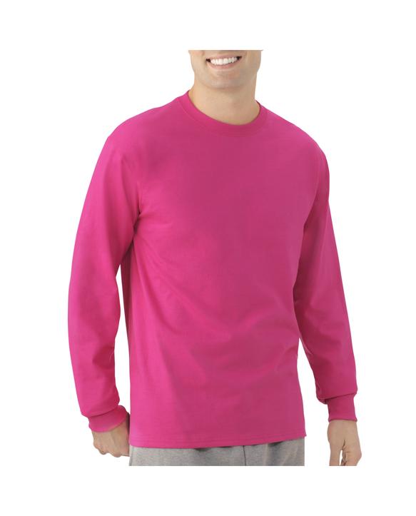 Men's EverSoft Long Sleeve T-Shirt, 1 Pack Very Berry