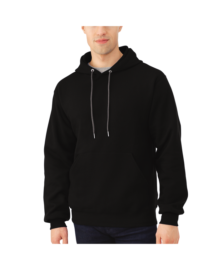 Men's EverSoft Fleece Pullover Hoodie Sweatshirt Black