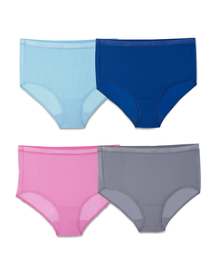 Fit for Me by Fruit of the Loom EverLight Briefs, 4 Pack Plus Size Panties