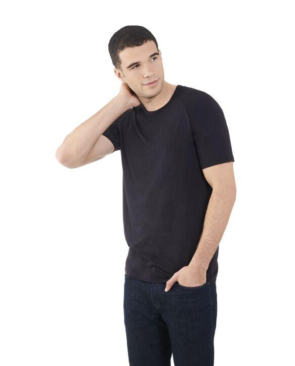 Men's Short Sleeve EverLight™ Raglan T-Shirt, 2 Pack Brilliant Black