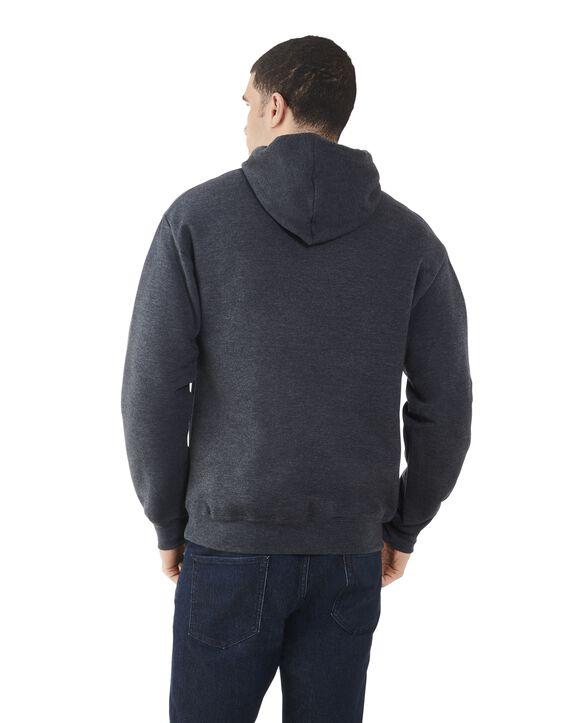 Big Men's EverSoft Fleece Pullover Hoodie Sweatshirt, 1 Pack Black Heather