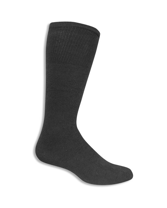 Men's Work Gear Tube Socks, 10 Pack, Size 6-12 BLACK/CHARCOAL