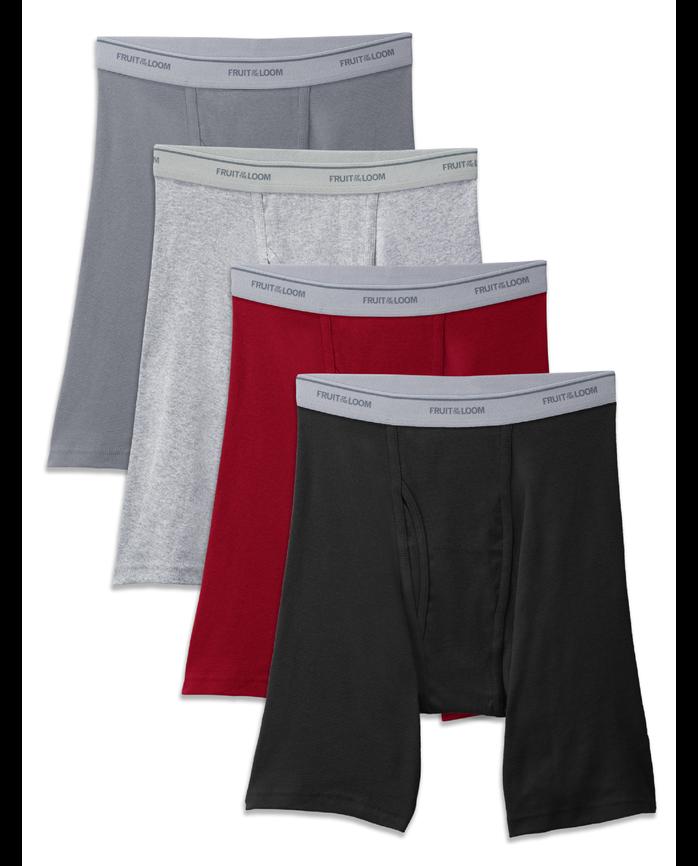 Big Men's Long Leg Boxer Brief, 4 Pack