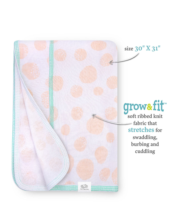 Baby Girls' Grow & Fit Blankets, 2 Pack Pink Multi