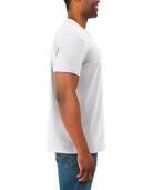 Men's Soft Short Sleeve V-Neck T-Shirt, 2 Pack, Extended Sizes White