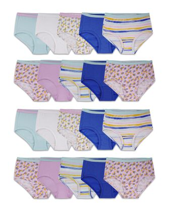 Girls' Assorted Cotton Brief, 20 Pack