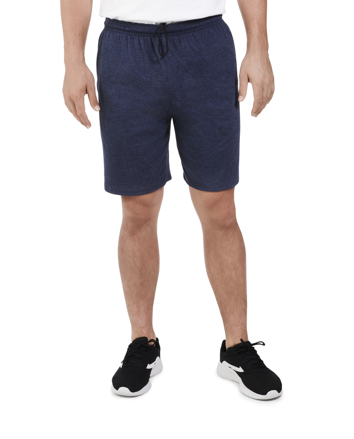Men's Dual Defense® Jersey Shorts, 1 Pack, Extended Sizes Indigo Ink Heather