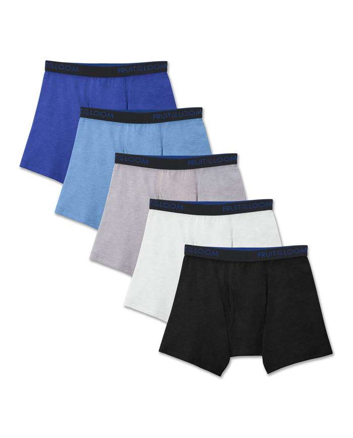 Boys' Breathable Cotton Mesh Boxer Brief, 5 pack