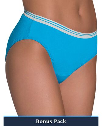 Women's Assorted Heather Bikini Panty, 9 Pack