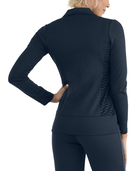 Women's Seek No Further Long Sleeve Open Front Fitted Blazer Navy Nights