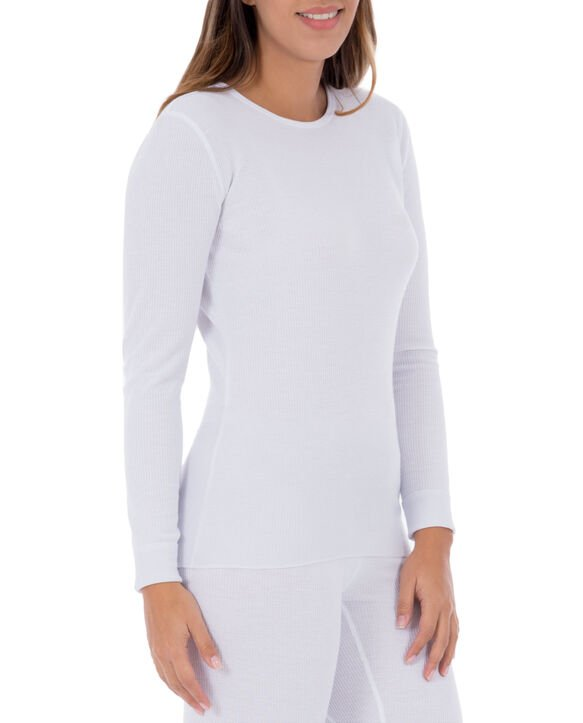 Women's Thermal Crew Top, 1 Pack White