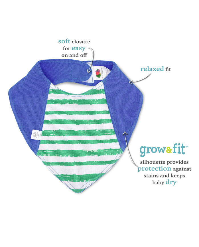 Baby Boys' Grow & Fit Bandanas, 2 Pack Blue Multi