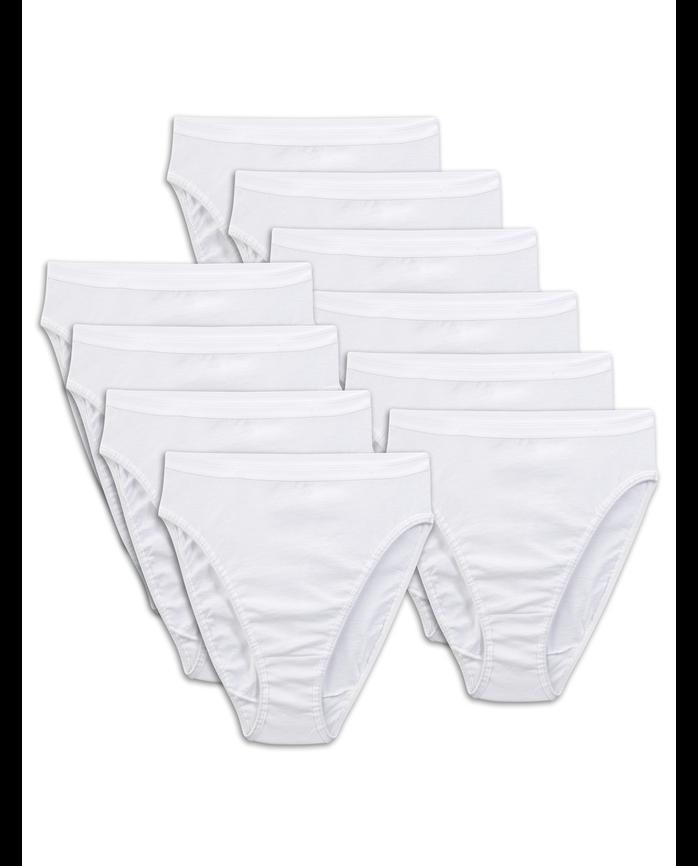 Women S 10 Pack White Cotton Hi Cut Fruit Us