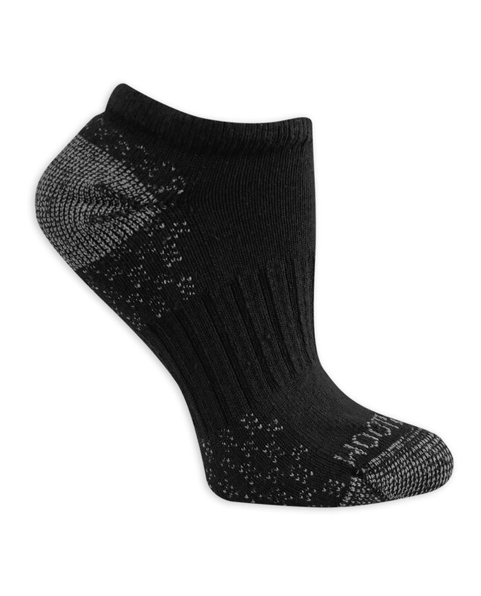 Women's On Her Feet Cotton Zone Cushion No Show Socks, 3 Pack BLACK/GREY, BLACK/DENIM