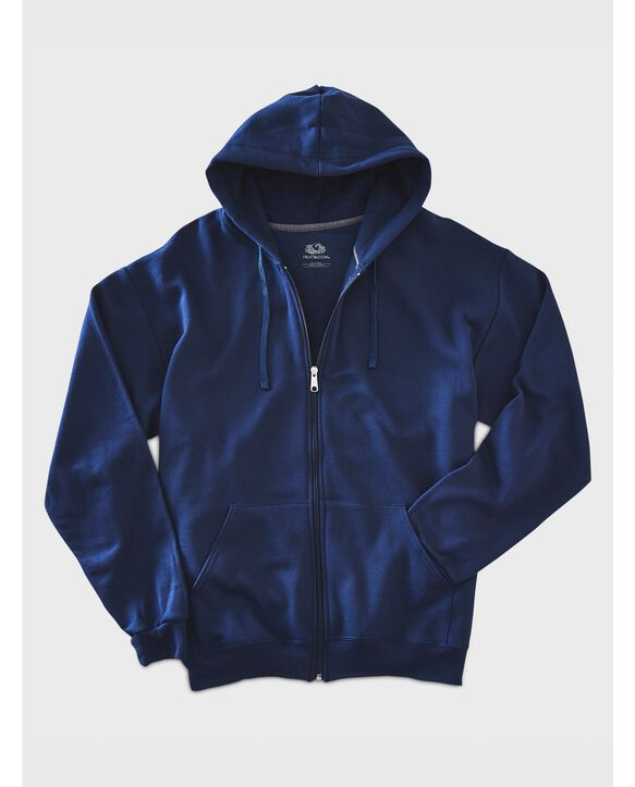 EverSoft Fleece Full Zip Hoodie Jacket, 1 Pack Blue