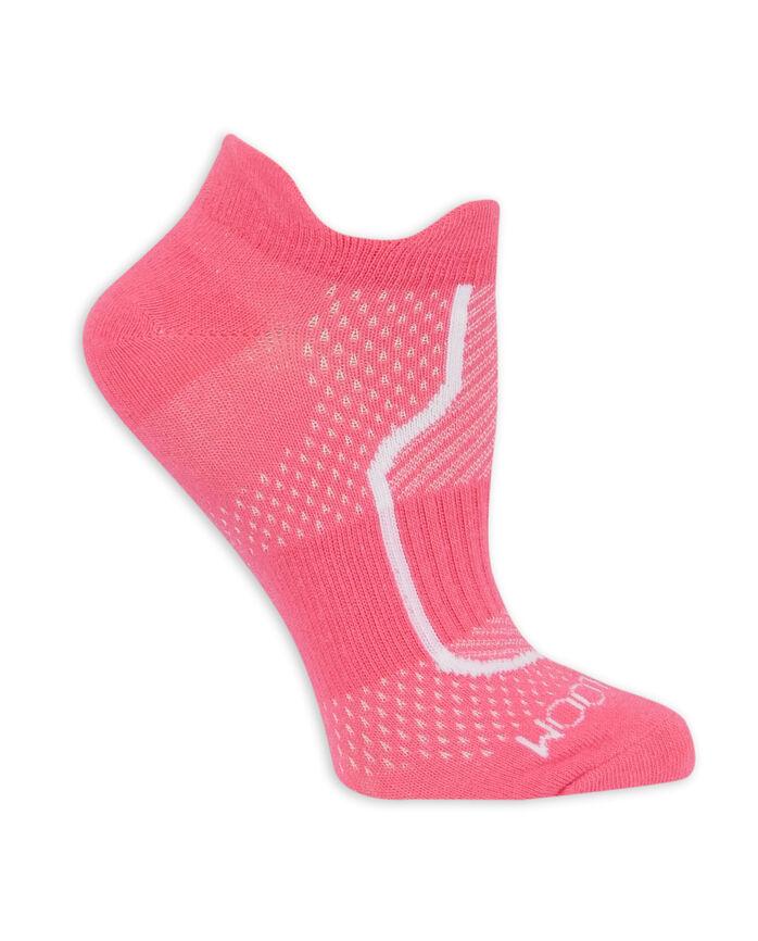 Women's CoolZone Cotton Lightweight No Show Tab Socks, 6 Pack PINK, PURPLE, BLUE, BLACK, GRAY, WHITE