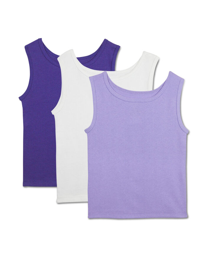 Toddler Girls' 3 Pack Assorted Cotton Tank Assorted