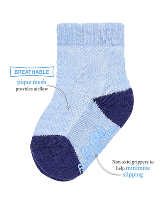 Baby Boys' Breathable Socks, 6 Pack