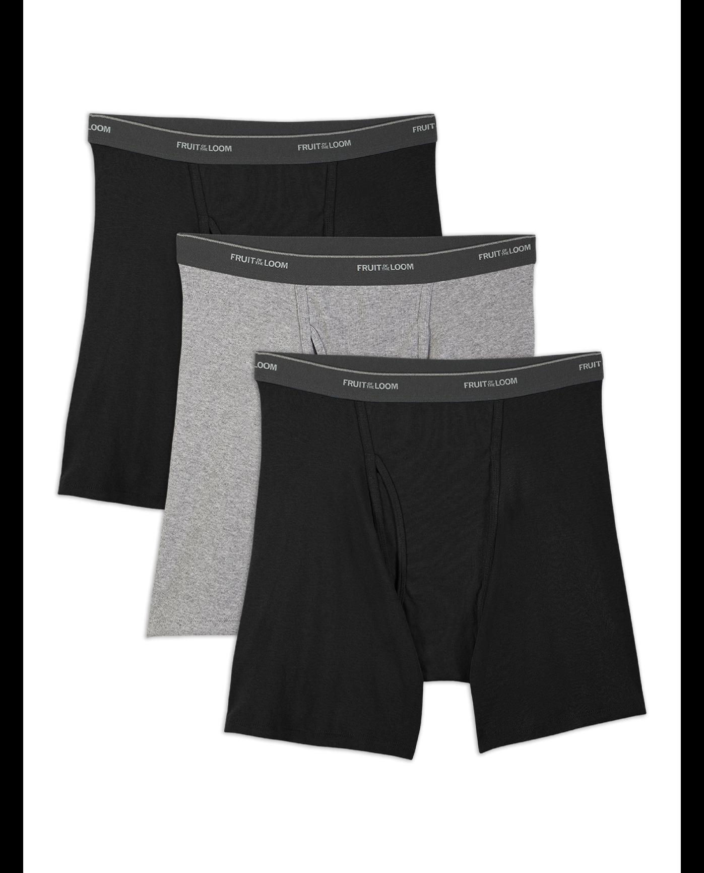 28cc39bbef81 Men's Dual Defense Black/Gray Boxer Briefs, 3 Pack Black Grey