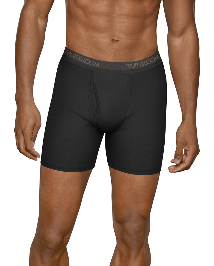 Men's Micro-Stretch Black/Gray Boxer Briefs, 5 Pack ASSORTED