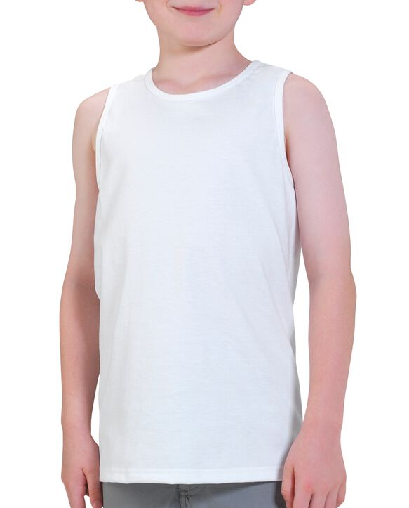 Boys' Tank Top, 2 Pack White