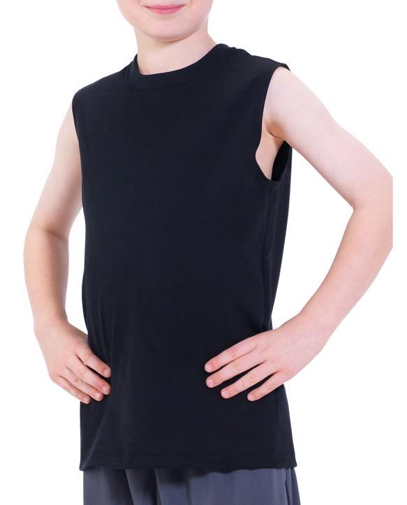 Boys' Sleeveless T-Shirt, 2 Pack Black