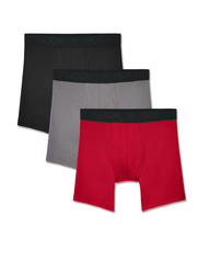 Men's Breathable Lightweight Micro-Mesh Boxer Briefs, 3 Pack Assorted