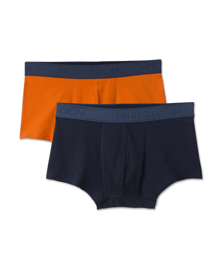 Stretch Cotton Low Rise Assorted Trunks, 2 Pack